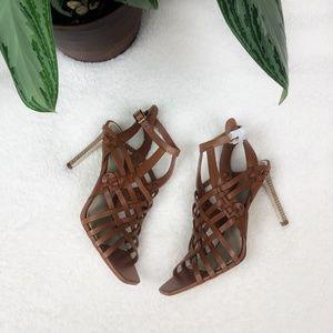NEW Paige Brown Verso Huarache Sandal Stiletto